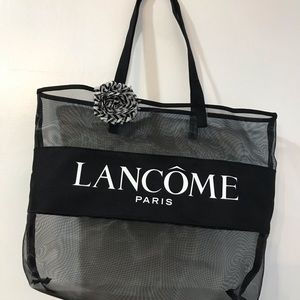 NWOT Lancôme Paris Mesh Black see through Tote